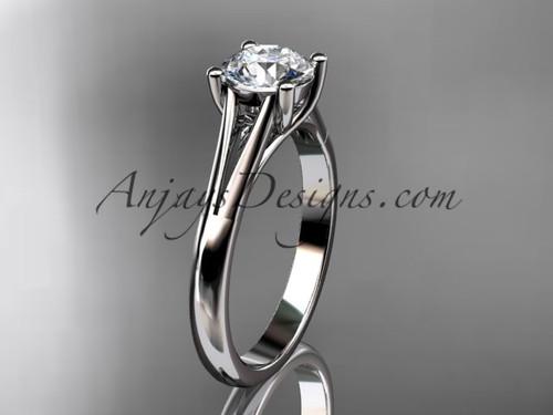 platinum unique engagement ring, wedding ring, solitaire ring ADER109