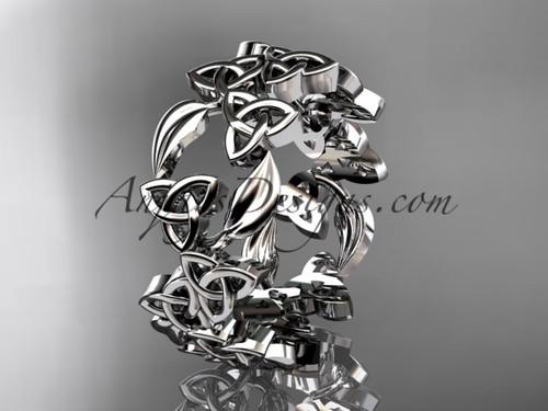 Engagement Ring No Diamond 14kt White Gold Celtic CT7250B