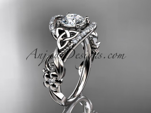 White Gold Moissanite Celtic Wedding & Engagement Ring CT7211