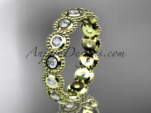 Vintage Engagement Ring - Yellow Gold Diamond Ring ADLR345