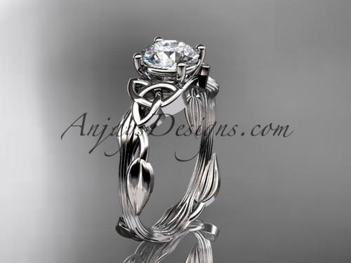 Celtic Wedding Rings Platinum Moissanite Ring CT7251