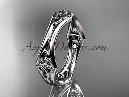 platinum diamond celtic trinity knot wedding band, engagement ring CT7356G