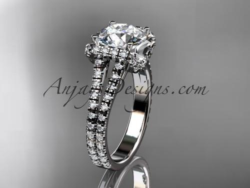 platinum diamond unique engagement ring, wedding ring ADER107