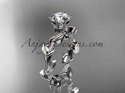 Unique platinum diamond floral wedding ring,engagement ring ADLR248