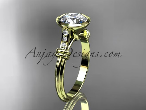 Vintage Engagement Ring, Yellow Gold Diamond Ring ADLR23