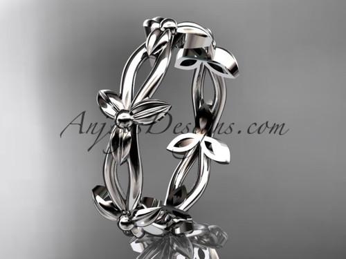 platinum leaf and vine wedding ring,engagement ring ADLR19C