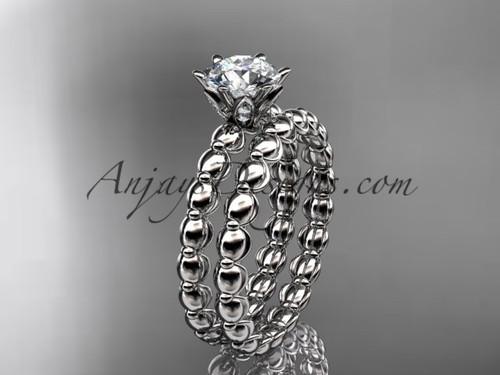 platinum diamond wedding ring, engagement set ADLR34S
