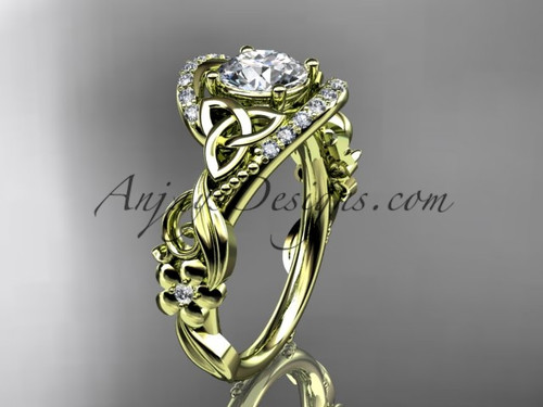 Celtic Knot Engagement Rings, 14k Gold Triquetra Ring CT7211