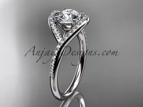 14kt white gold diamond wedding ring, engagement ring ADLR383