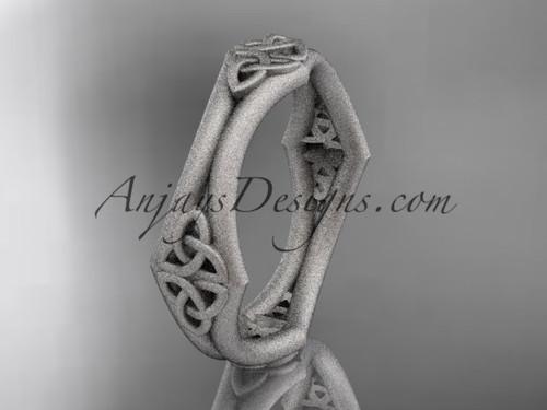 Rings for Men - Platinum Celtic Wedding Band CT7356G