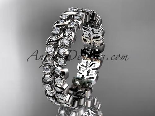 platinum diamond vine and leaf wedding ring, engagement ring, wedding band ADLR36B