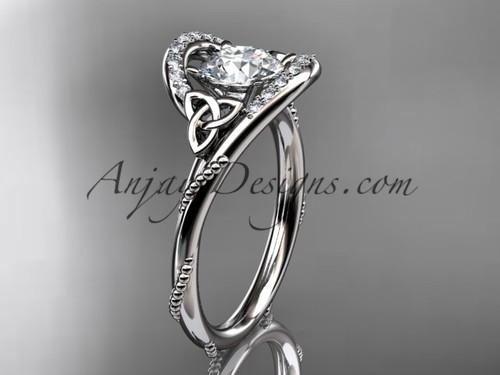 Platinum diamond celtic trinity knot wedding ring, engagement ring CT7166