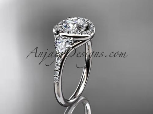 Platinum diamond unique engagement ring,wedding ring ADLR201