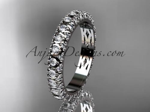 14kt white gold diamond wedding ring, engagement ring, wedding band, eternity ring ADLR123B