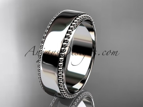 14kt white gold classic wedding band, engagement ring ADLR380G