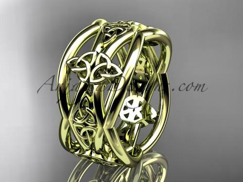 Yellow Gold Celtic Unusual Wedding Band CT7519G