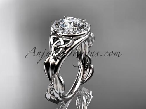 platinum diamond celtic trinity knot wedding ring, engagement ring CT7327