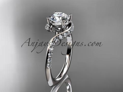 Unique platinum engagement ring, wedding ring ADLR277