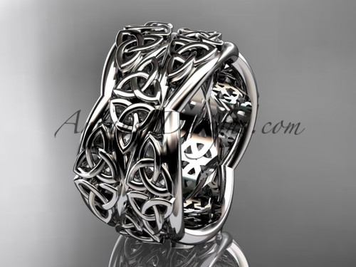 White Gold Engagement Rings, Celtic Wedding Band CT7352G