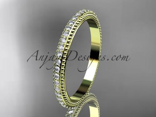 14kt yellow gold diamond wedding ring, engagement ring, wedding band ADER86B