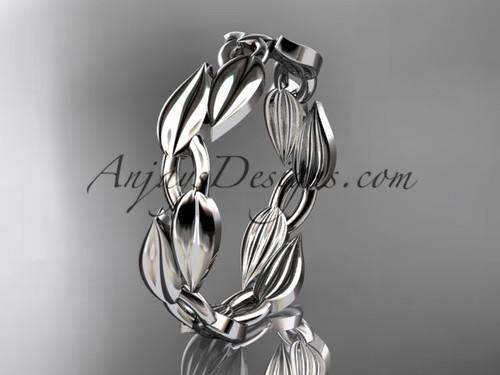 Leaf Platinum Wedding Band -  Engagement Ring ADLR58B