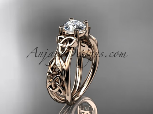 Rose Gold Celtic Triquetra Engagement Ring CT7216