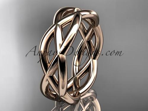 14kt rose gold wedding band ADLR392G