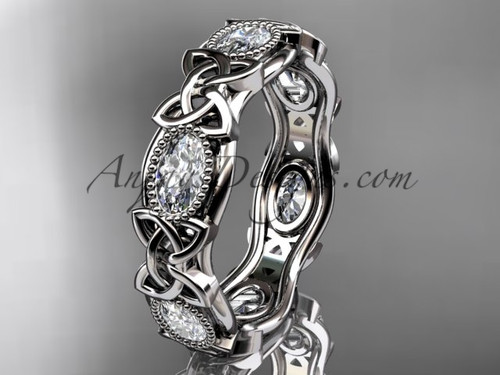 platinum celtic trinity knot wedding band, engagement ring CT7152B