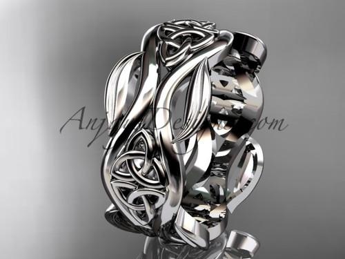 platinum celtic trinity knot wedding band, engagement  ring CT7264G