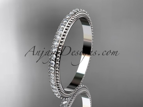 platinum diamond wedding ring, engagement ring, wedding band ADER86B