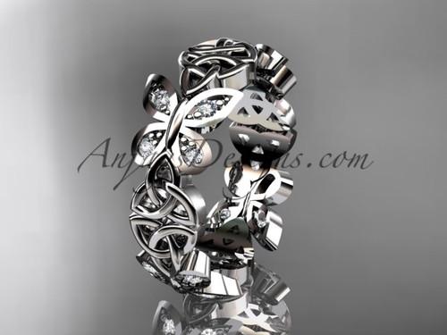 platinum diamond celtic trinity knot butterfly wedding band, engagement ring CT7420B