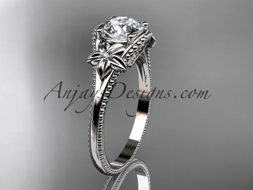 Platinum Diamond Unique Flower Engagement Ring ADLR375