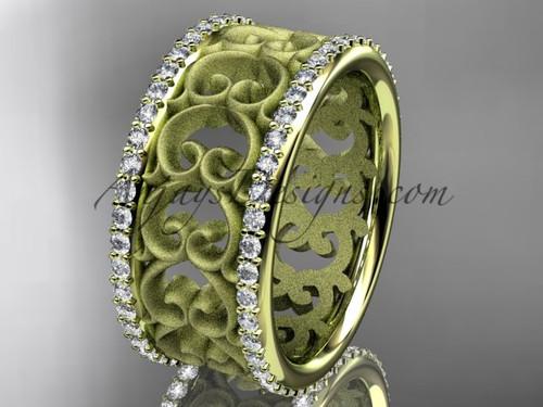 14kt yellow gold diamond engagement ring, wedding band ADLR423B 1