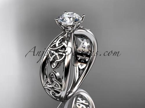 platinum celtic trinity knot wedding ring, engagement ring CT7171