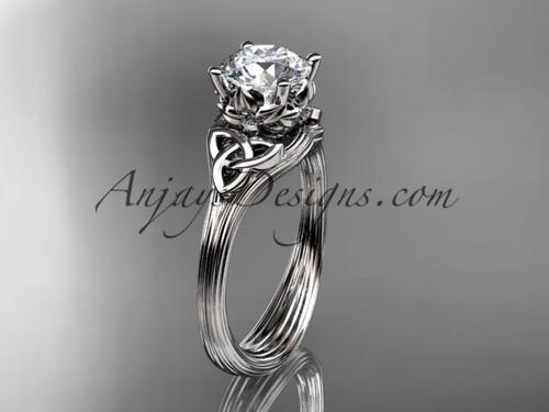 Moissanite Celtic Cheap Engagement ring Platinum ring CT7240