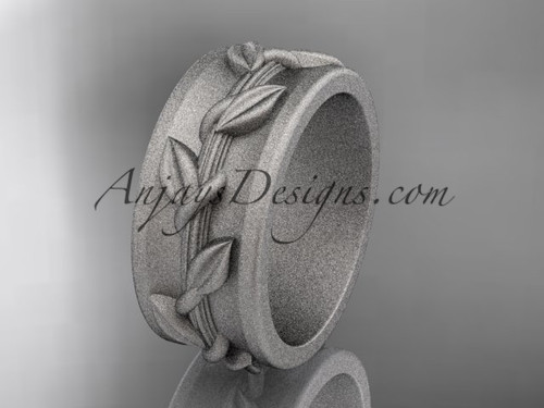 White gold Wedding matte finish Ring Designs ADLR417G