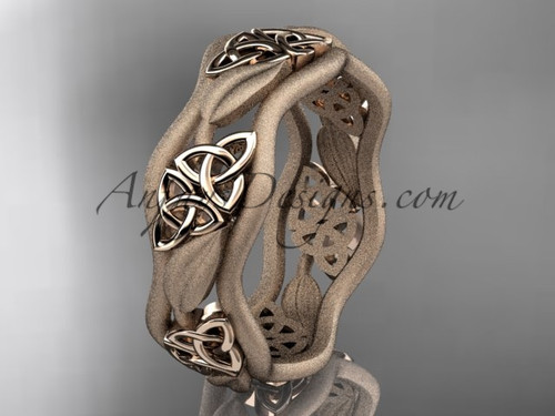 Mens Wedding Rings - Rose Gold Celtic Bridal ring CT7506G