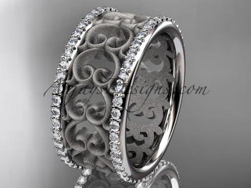 platinum  diamond engagement ring, wedding band ADLR423B 1