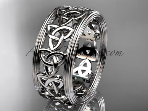 platinum celtic trinity knot wedding band, engagement  ring CT7513G