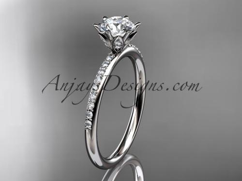 platinum diamond unique engagement ring, wedding ring ADER145