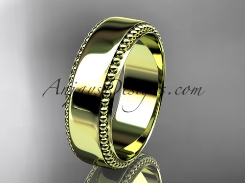 14kt yellow gold classic wedding band, engagement ring ADLR380G