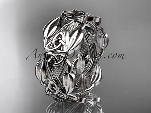 Celtic Trinity Knot Wedding Band Platinum Diamond Engagement rings CT7259B