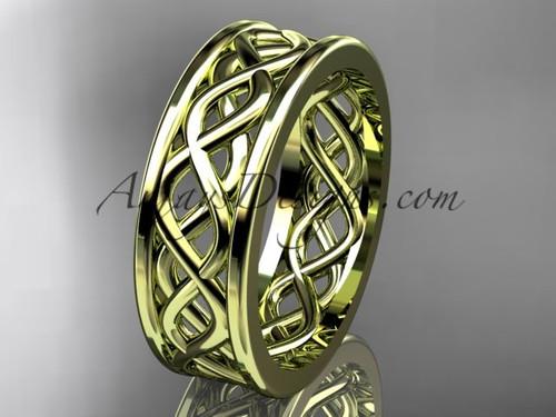 Amazing Wedding Band, 14kt Yellow Gold Engagement Ring ADLR257G