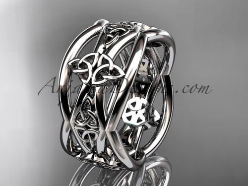Platinum Celtic Unusual Wedding Band CT7519G