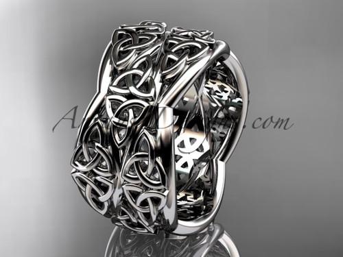Platinum Engagement Rings, Celtic Wedding Band CT7352G