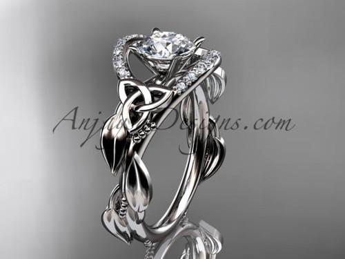 platinum diamond celtic trinity knot wedding ring, engagement ring CT7326