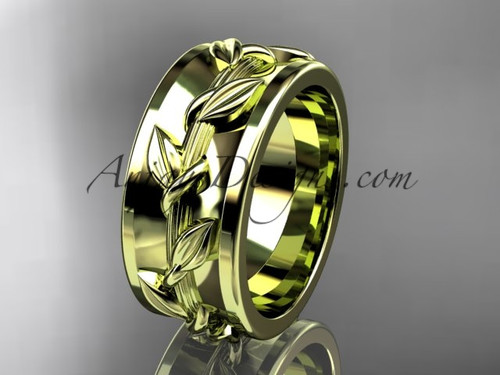 Wedding Band Designs for  Female in yellow Gold ADLR417G