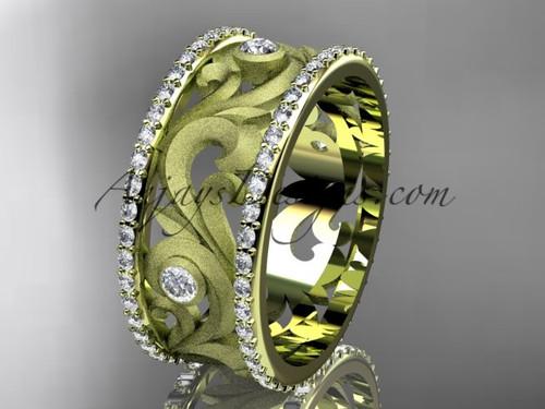14kt yellow gold diamond engagement ring, wedding band ADLR121BA