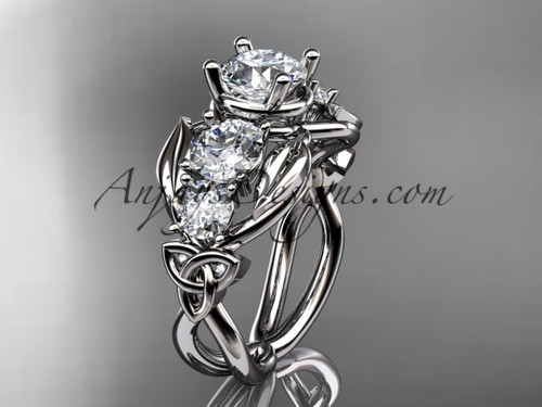 14kt White Gold Sapphire Welsh Engagement Ring CT769