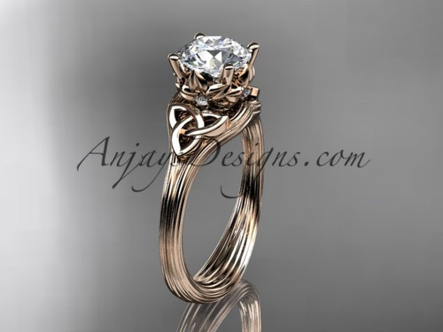 Diamond Celtic Cheap Engagement ring Rose Gold ring CT7240